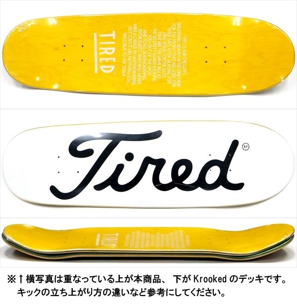 """【9.25"""" デッキ スケートボード タイレッド】Tired Long T Logo Donny 9.25"""""""