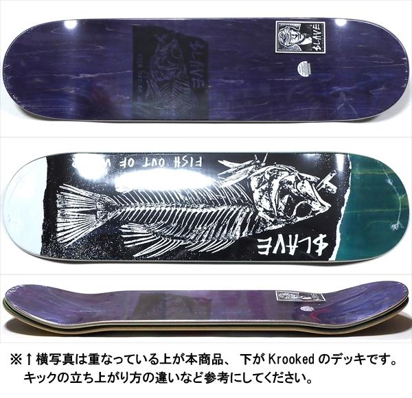 """【8.375"""" デッキ スケートボード スレイブ】Slave Fish Out Of Water 8.375"""" Teal"""