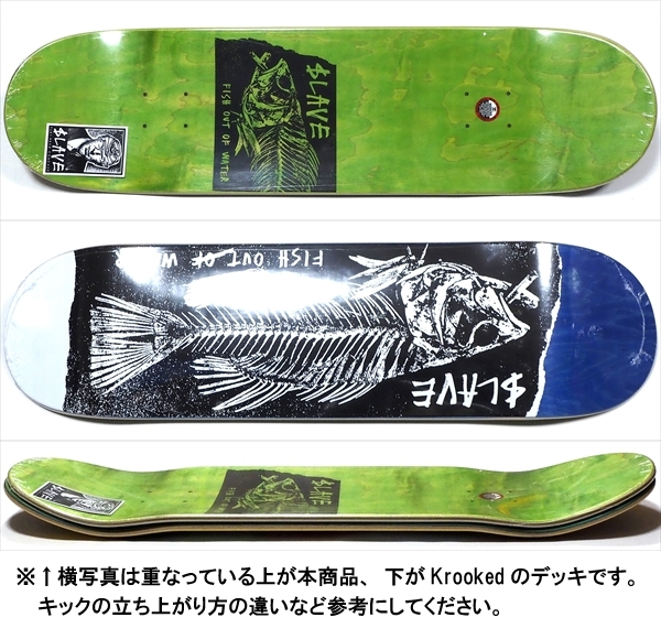 """【8.5"""" デッキ スケートボード スレイブ】Slave Fish Out Of Water 8.5"""" Blue"""