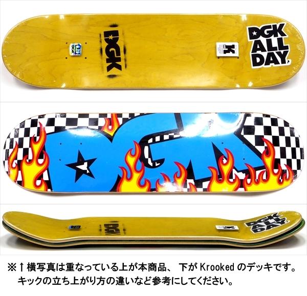 """【8.25"""" デッキ スケートボード ディージーケー】DGK On Fire 8.25"""""""