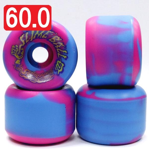 【60.0mm スケートボード ウィール サンタクルーズ】Santacruz Slim Balls 60mm 97A Pink Blue Swirl