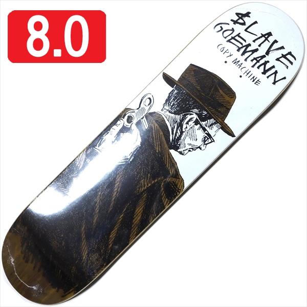 """【8.0"""" デッキ スケートボード スレイブ】Slave Jon Goemann Copy Machine 8.0"""" Brown"""