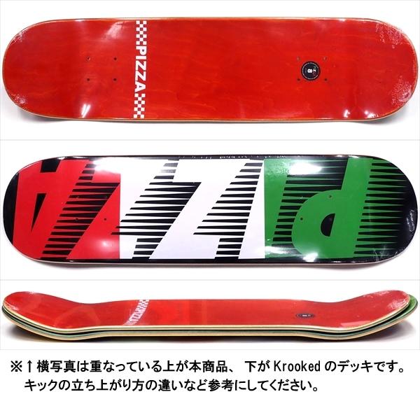 """【8.0"""" デッキ スケートボード ピザ】Pizza Speedy Black 8.0"""""""