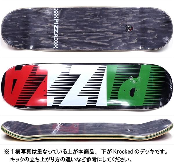 """【8.375"""" デッキ スケートボード ピザ】Pizza Speedy Black 8.375"""""""