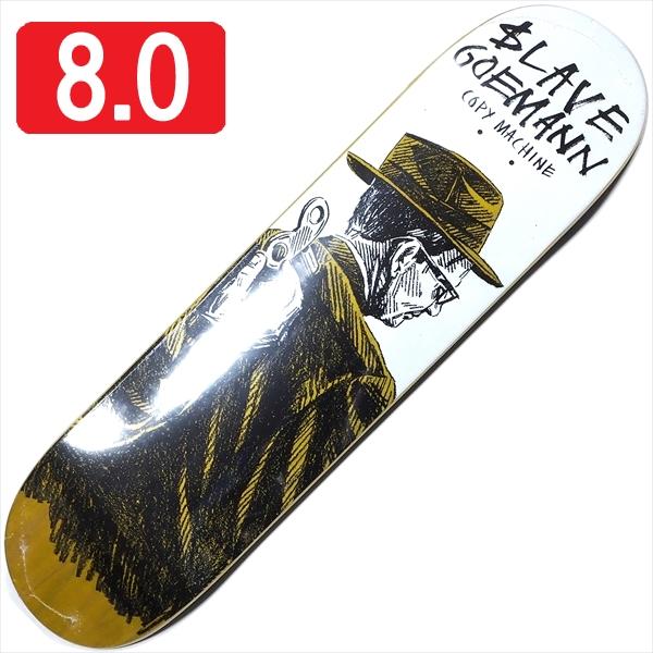 """【8.0"""" デッキ スケートボード スレイブ】Slave Jon Goemann Copy Machine 8.0"""" Yellow"""