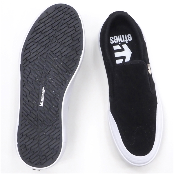 """【23.5cm/5.5"""" シューズ スケートボード エトニーズ】Etnies Marana Slip XLT Black/White"""