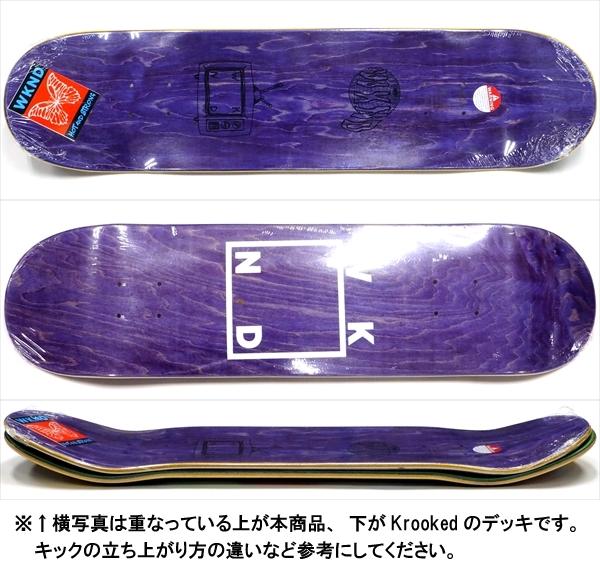 """【8.0"""" デッキ スケートボード ウィークエンド】WKND Logo Veneers Assorted 8.0"""" Purple"""