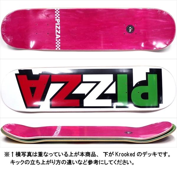 """【7.75"""" デッキ スケートボード ピザ】Pizza Tri Logo 7.75"""""""