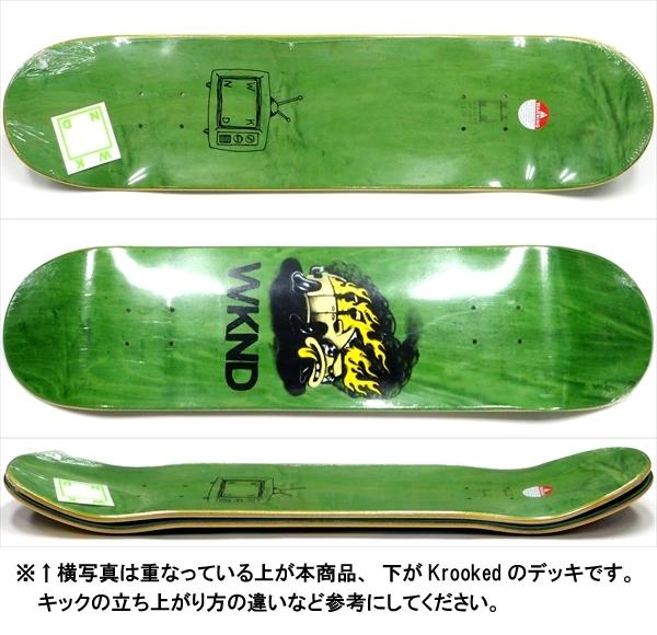 """【8.0"""" デッキ スケートボード ウィークエンド】WKND Van Down 8.0"""" Green"""