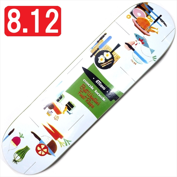 """【8.12"""" デッキ スケートボード スタジオ】Studio Brett Weinstein Cookbook 8.12"""""""