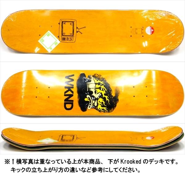 """【8.0"""" デッキ スケートボード ウィークエンド】WKND Van Down 8.0"""" Orange"""