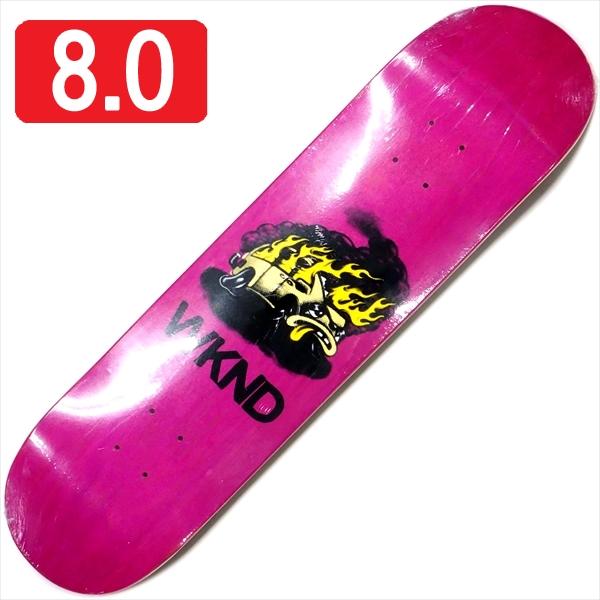 """【8.0"""" デッキ スケートボード ウィークエンド】WKND Van Down 8.0"""" Pink"""