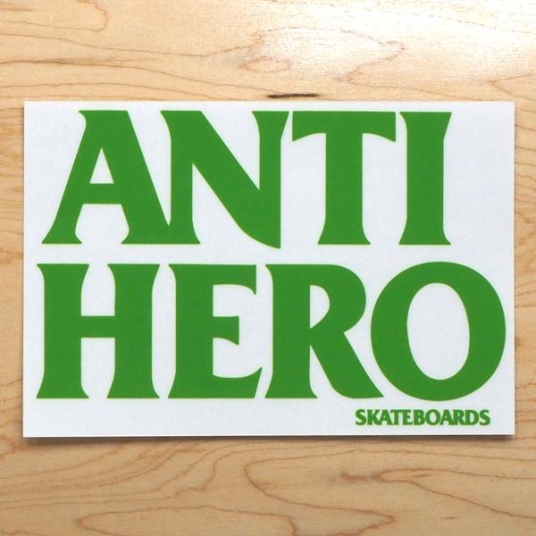 【ステッカー スケートボード アンタイヒーロー】Antihero Blackhero Green