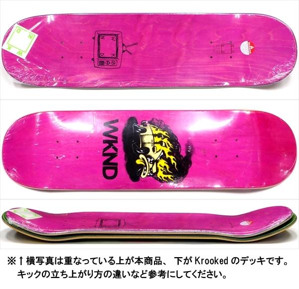 """【8.125"""" デッキ スケートボード ウィークエンド】WKND Van Down 8.125"""" Pink"""