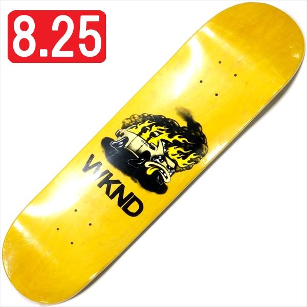 """【8.25"""" デッキ スケートボード ウィークエンド】WKND Van Down 8.25"""" Yellow"""
