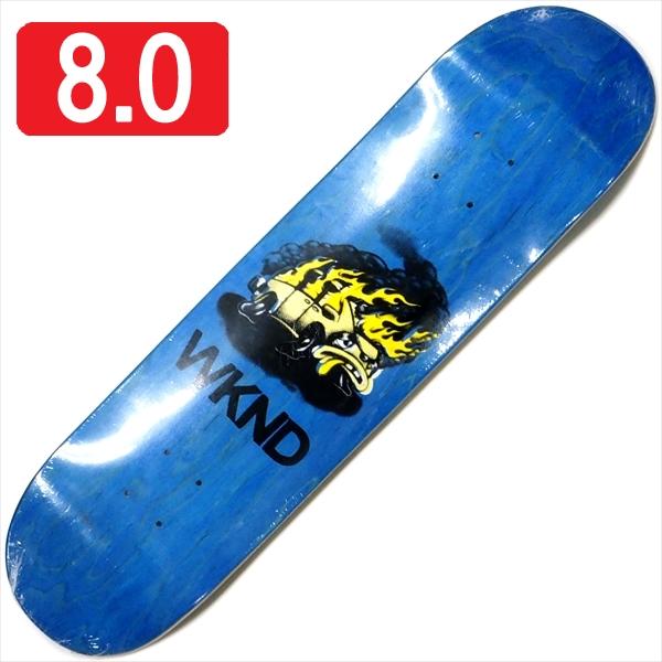 """【8.0"""" デッキ スケートボード ウィークエンド】WKND Van Down BP 8.0"""" Blue"""