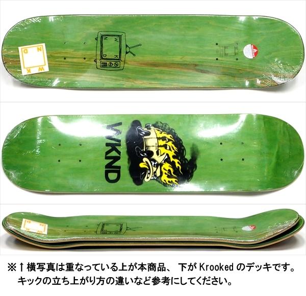 """【8.0"""" デッキ スケートボード ウィークエンド】WKND Van Down BP 8.0"""" Green"""