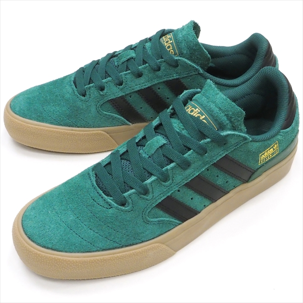 "【22.5cm/4.5"" シューズ スケートボード アディダス】Adidas Busenitz Vulc2 Green/Black/Gum《FY0457》"