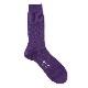 【 ゆうパケット対象 】Men's バスケットランチソリッドカラーソックス Purple (AYM201/SLD/N)