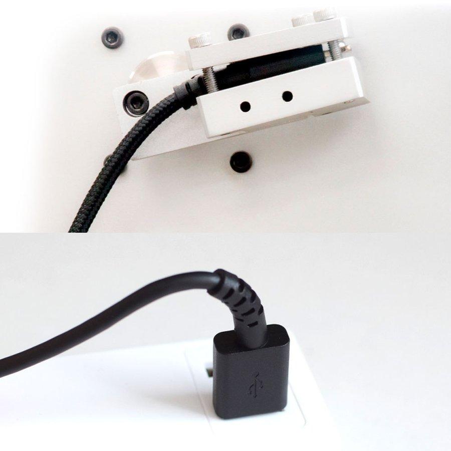 3 in 1 Lightningアダプター&USB Type-Cアダプター付き Type-A to microUSB 超タフストロング ストレートケーブル 2m OWL-CBKMLCR20