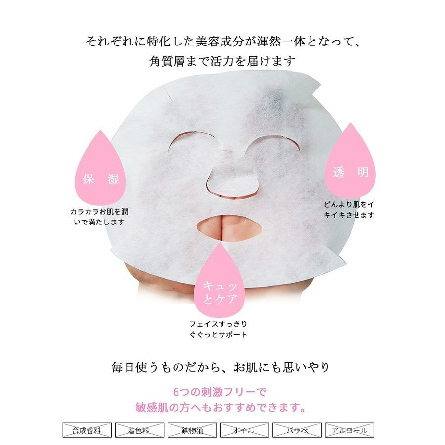 皮膚の能力を高めます!  美友ナチュラル512 アスタキサンチン MITOMO フェイスマスク MT512-E-4