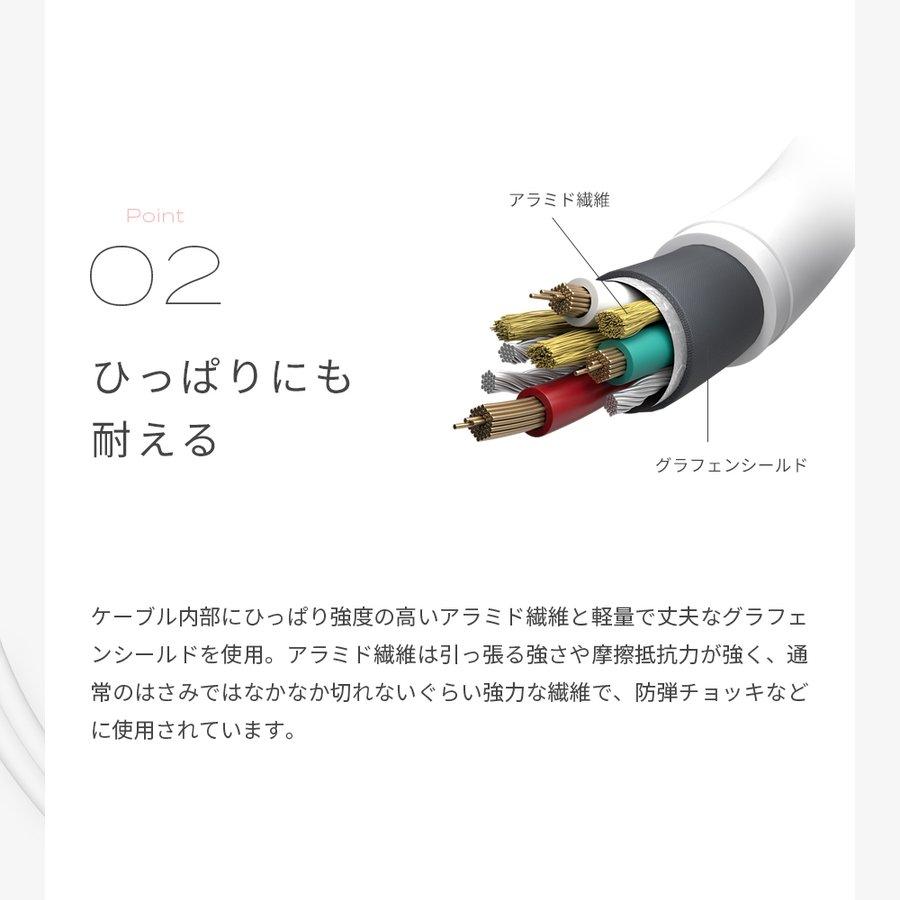 充電ケーブル 3in1ケーブル 2.0m microUSBケーブル iPhone スマホ lightning Type-C 変換 MOTTERU MOT-3IN1CBG200