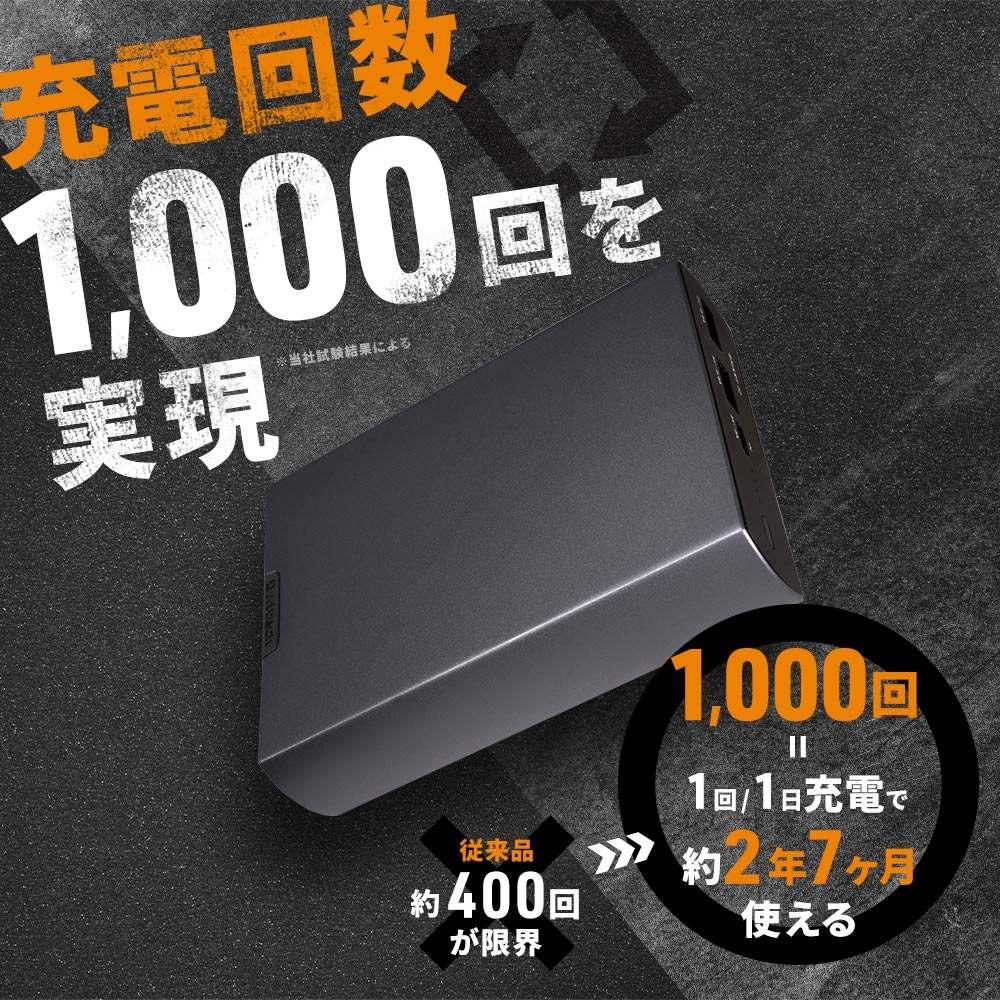 未使用アウトレット オウルテック モバイルバッテリー 繰り返し1000回充電可能 10000mAh USB Type-Cポート搭載(OWL-LPB10007-GM)