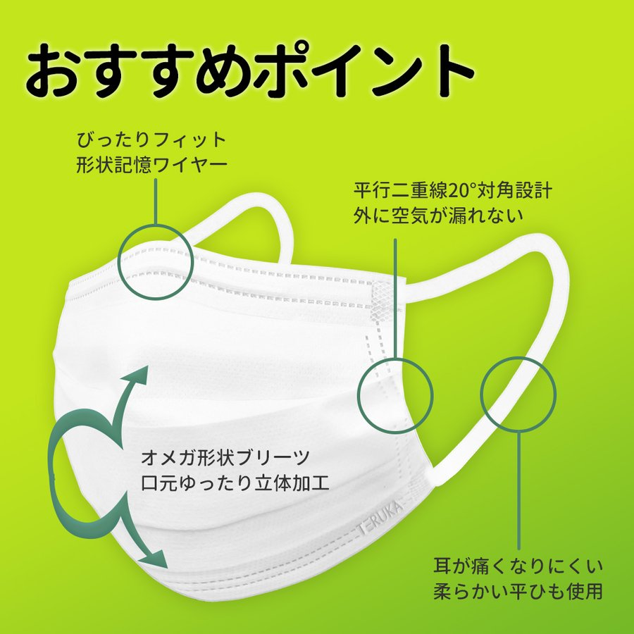 [大人気!]夏用マスク ミント香り 爽やか 三層抗菌防護!BFE/PFE/VFE99%日本機構認証あり!
