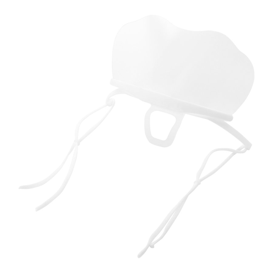 開閉式だから飲食の場に最適!呼吸がしやすい透明マウスシールド 開閉タイプ 6枚入り(LE-MSHIELD-02)
