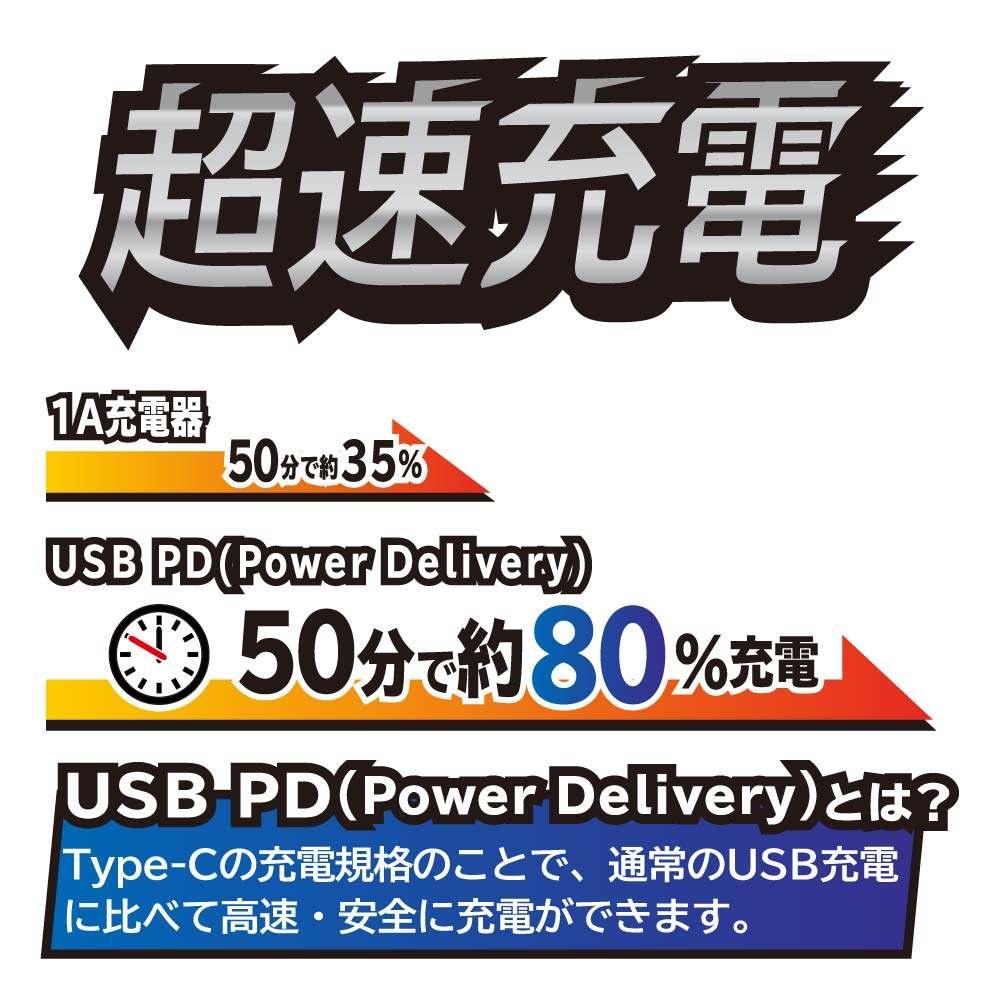 [新品]2台同時にかしこく充電 モバイルバッテリー デジタル残量表示 10,000mAh PD18W入出力対応Type-Cポート搭載(OWL-LPB10011)[在:A/N]