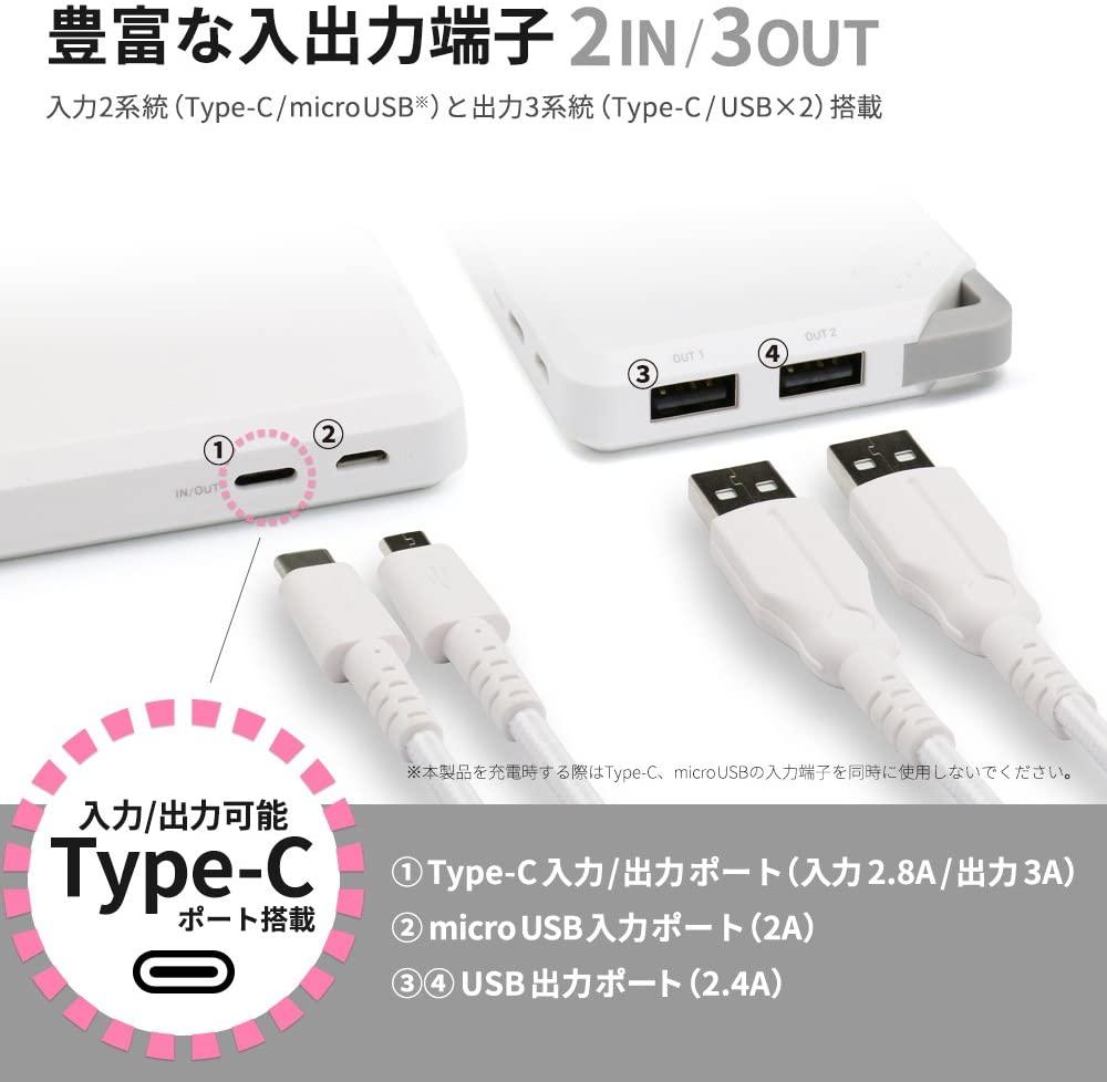 3台同時にかしこく充電できるモバイルバッテリー  【未使用outlet】OWL-LPB10006 環境配慮型パッケージ