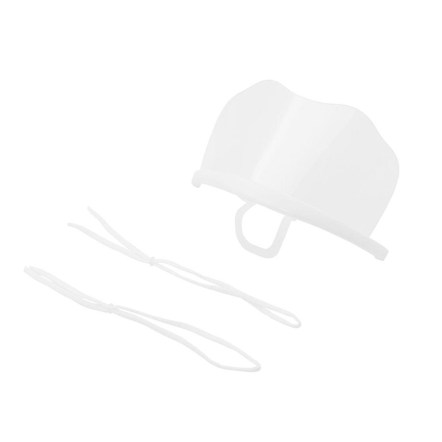 飛沫防止にはこれ!呼吸がしやすい透明マウスシールド 6枚入り(LE-MSHIELD-01)