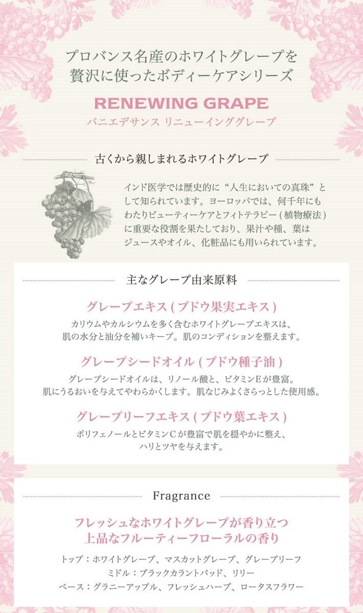 パニエデサンス リニューインググレープ【ハンドクリーム 75ml】