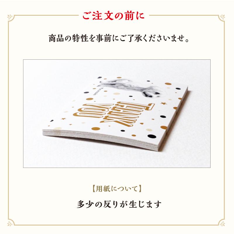 うちの子ミニカード Thank you GOLD/多頭飼い/名刺サイズ/片面/50枚
