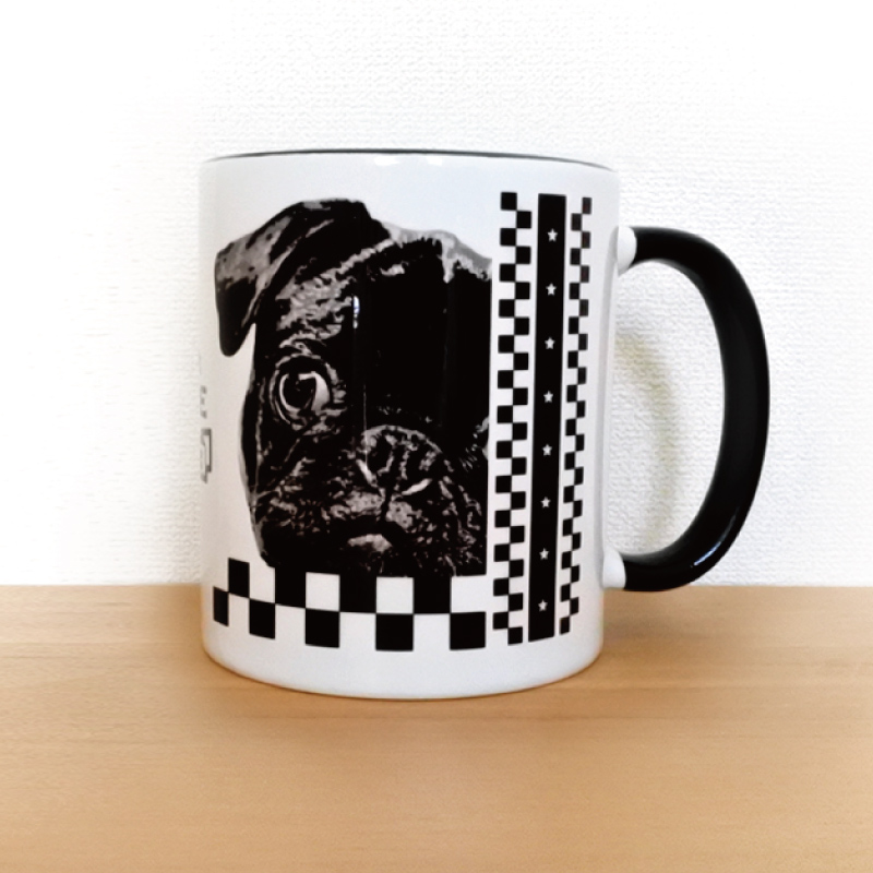 うちCafeマグM【 2 tone - Black & White 】(マグカップのみ)