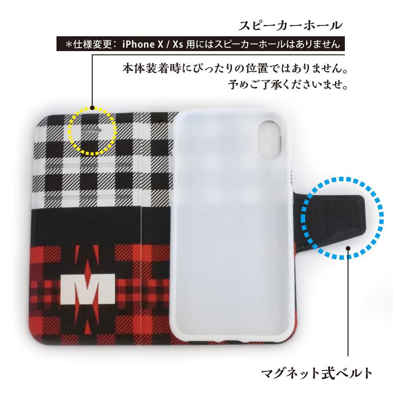 手帳型スマホケース [iPhone用]【Check-A】