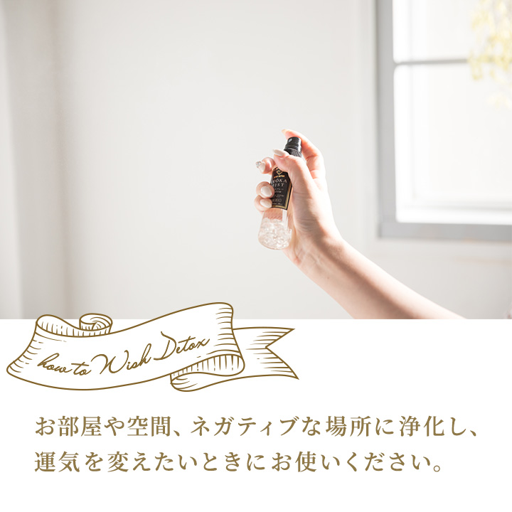 WISH DETOX 浄化スプレー<最強運>