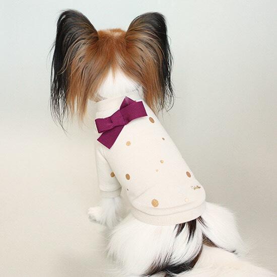 ポルカ ドット スウェット Tシャツ 3色 【犬用 トップス】
