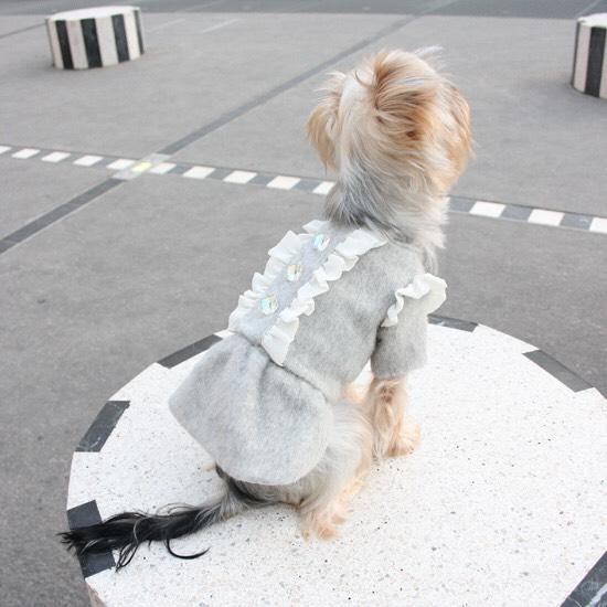 アルパカ ワンピース コート 【犬用 コート ドレス】