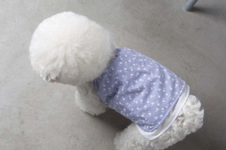 チェック フローラル キャミソール 3色 【犬用 キャミソール】