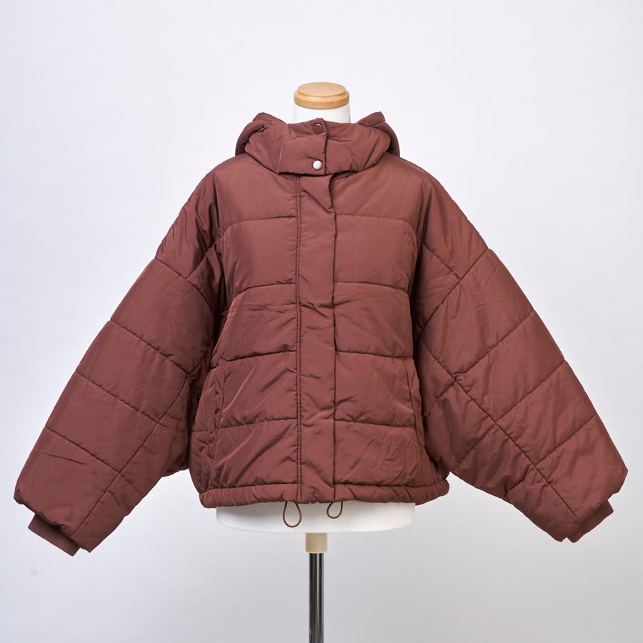 高密度タフタドルマン中綿ジャケット