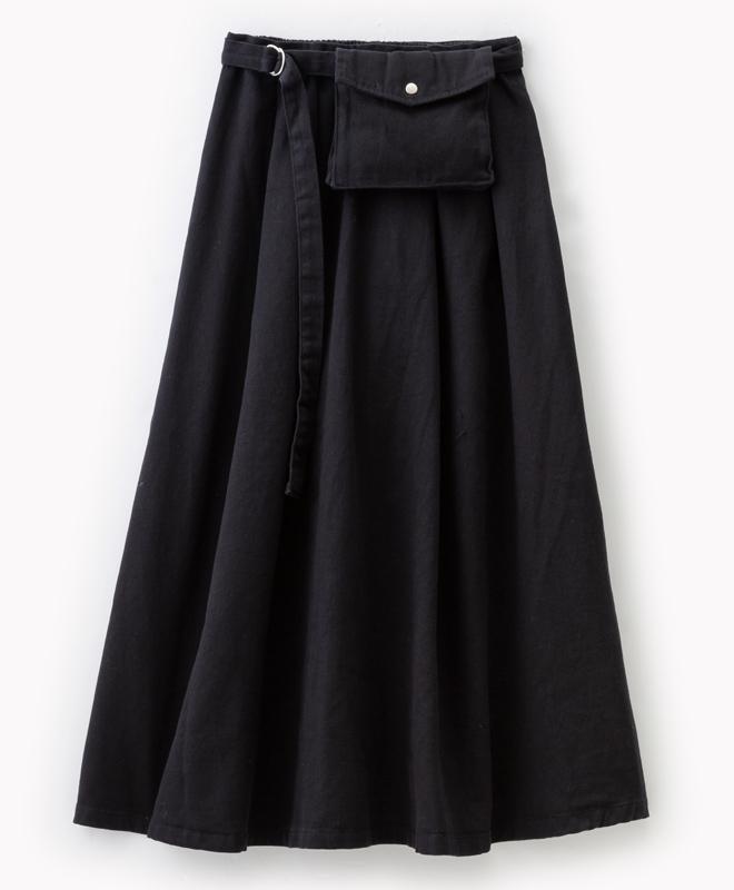 ウエストバッグ付きスカート