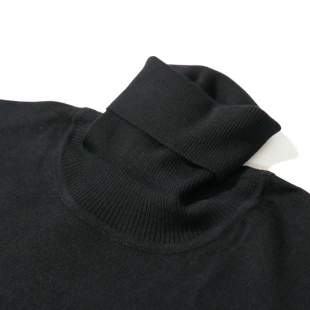 RING JACKET Napoli / リングヂャケットナポリ タートルネック ハイゲージ ウールニット  [ネイビー・ブラック]