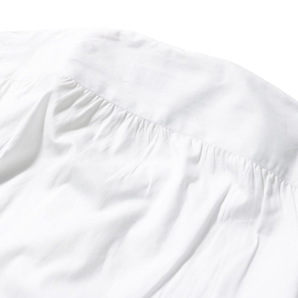 RING JACKET Napoli リングヂャケットナポリ ハンド3工程 TOSSETI 120/2×120/2 ONE WASH バンドカラーシャツ【ホワイト・ブルー/無地】