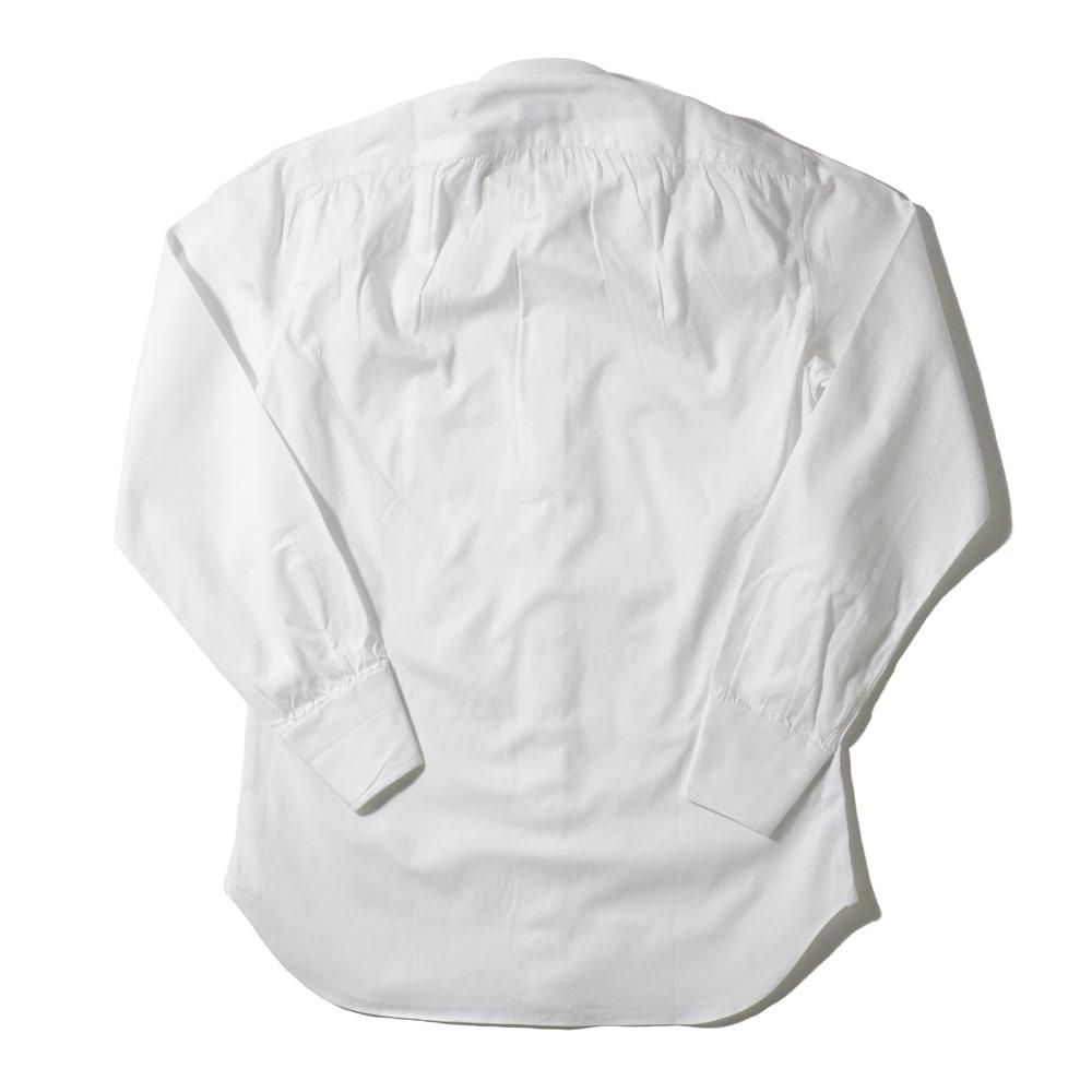 RING JACKET Napoli リングヂャケットナポリ ハンド9工程 TOSSETI ロングポイントレギュラーカラーシャツ【ホワイト/無地】