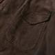 RING JACKET Napoli リングヂャケットナポリ シープスキンスエード サファリジャケット【ブラウン/無地】