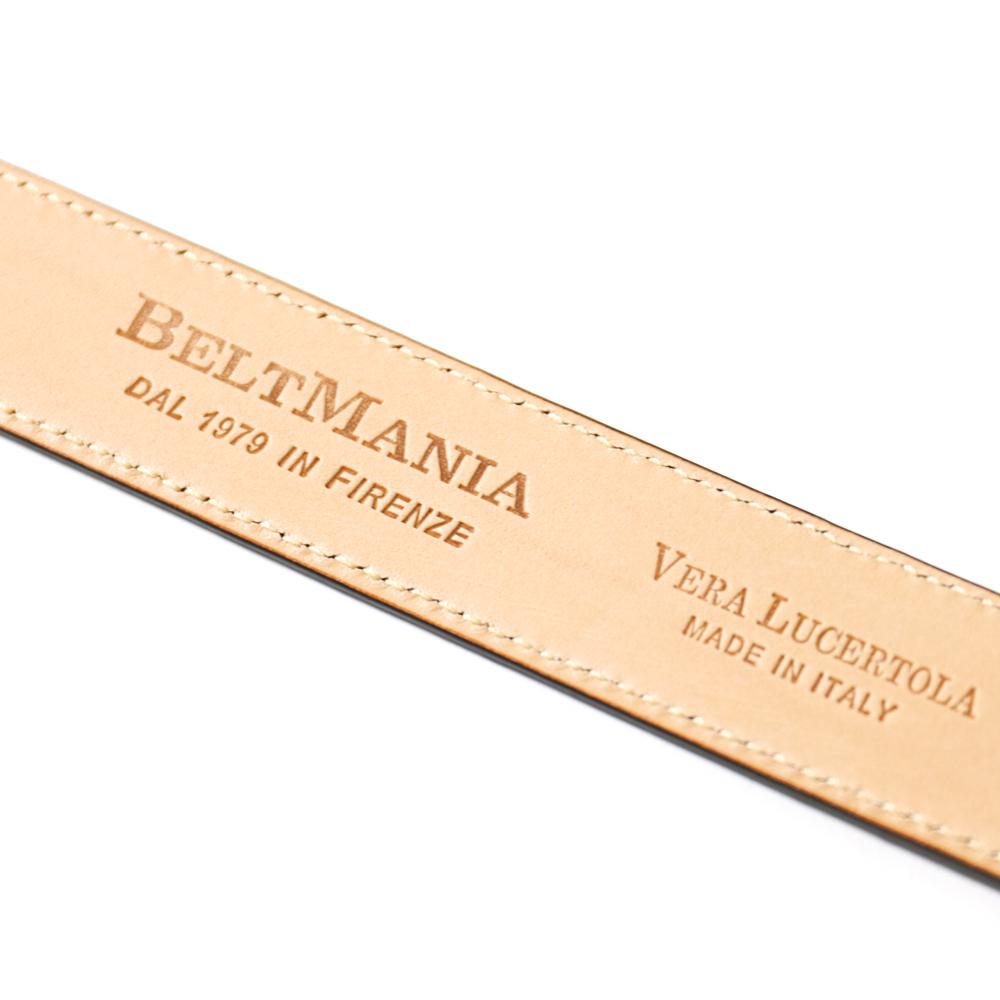 BELT MANIA ベルトマニア 28� リザードベルト 【ブラウン・ブラック】