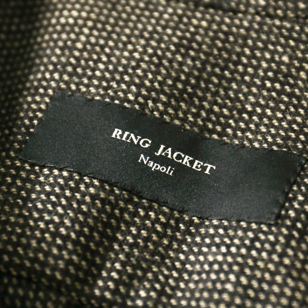 RING JACKET Napoli リングヂャケットナポリ CPO型カシミヤシャツブルゾン【ブラウン・ネイビー/無地】