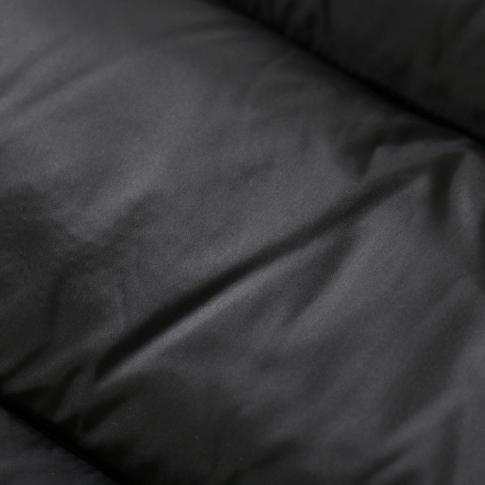 RING JACKET Napoli リングヂャケットナポリ ナイロンダウンベスト【ブラック/無地】