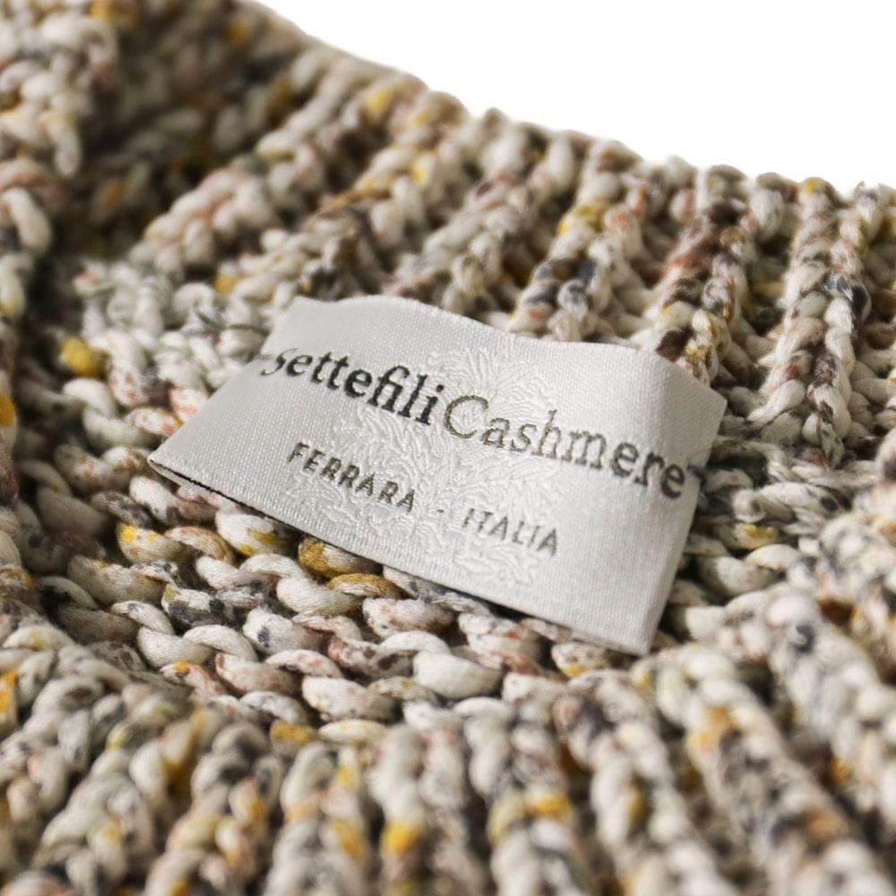 Settefili Cashmere セッテフィーリカシミア RASFEH SEP01 ミドルゲージコットン クルーネックセーター【ベージュ/無地】